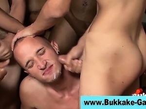 Gay group bukkake blowjob ass fuck