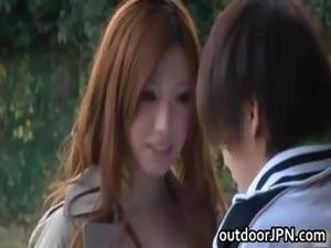Ai Sayama Japanese babe has outdoor sex part3