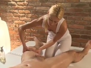 Erotic Blonde Hoe Licks His ass hole And Jerks His thang After Sleaze