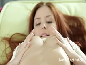 19 yr old redhead makes her pussy cream free