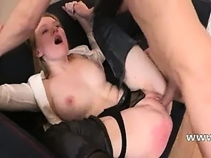 punished secretary with penis in ass