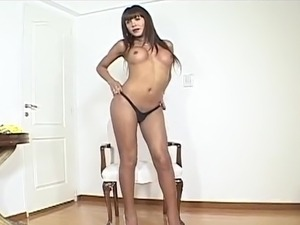 Hot spanish transsexual Jerks Off and screws honey duchess