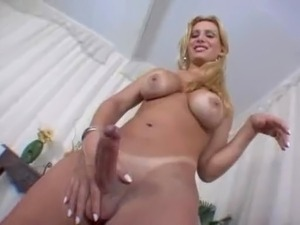 laura trajano brazilian shemale stroking her delicious cock for us