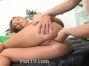 Hardcore anal fisting between fairhairs