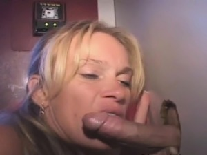 Pretty Blonde Amateur Slurps On Dick Through Glory Hole