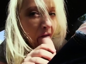 Picked up reality blondes pussy cumshot