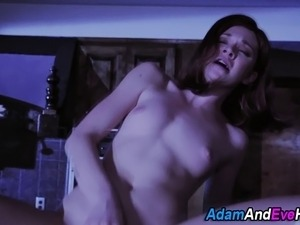 Willow fucks and rubs her sweet pussy in sexy stockings