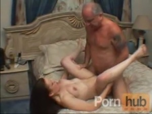 Hot brunette babe getting fucked by this old guy free