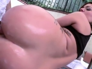 Hot big tits Karmen gets pussy destroyed