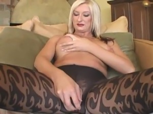 Mature blonde fucks with black man at home
