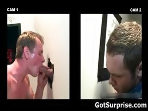 Kinky blonde gay blows dudes hard cock part5