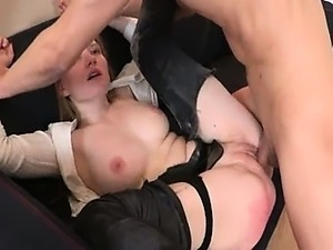 punished secretary with cock in ass