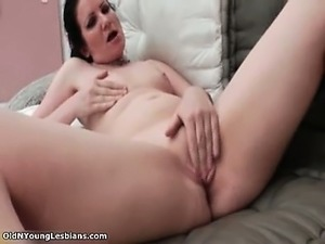 Horny old and young lesbians go crazy part5
