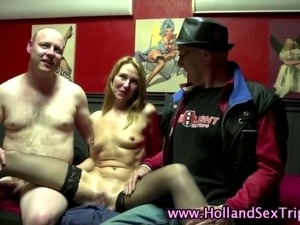 European stockings clad hooker fucks tourist in hi definition