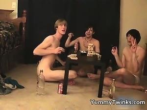 Three super cute twinks having a games part2