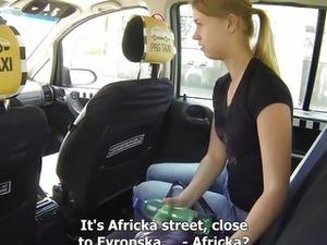 Czech Taxi - Blonde Teen gets ride of her LIFE