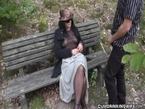 Slutwife fucked by strangers in parking area free