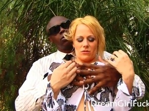Awesome Blonde Suck A Big Black Cock