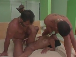 Dirty spanish Love Being twofold fucked inside the three some