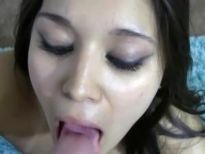 Refined puss Selena Santoro is eating some prick