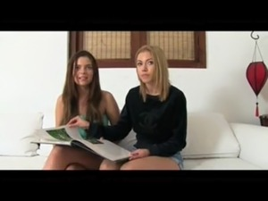 Party girls get interviewed in casting free