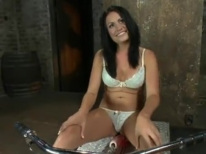 Dark haired pussy inside White undies Have funtime all over the making love...