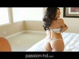 Latina Brunette Teen Sucks and Fucks in Sequence Lingerie free