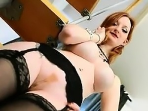 Chick With Big Tits Strips Point Of View