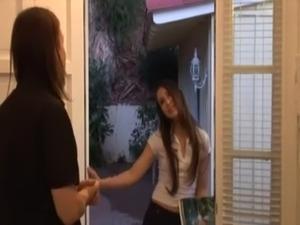 Door to door sales girl barely legal MUST SEE free