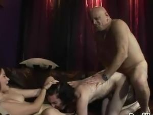 Couple Bisexual blokes And Dirty Japanese gal Having crazy fucking