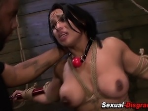 Restrained slave fucked