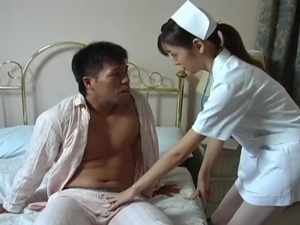 Hijiri Kayama licks patient pork dagger and bumped