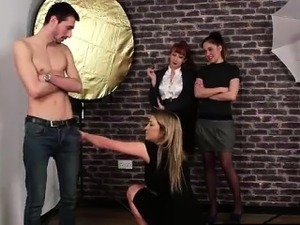 CFNM amateur strips for British women on camera
