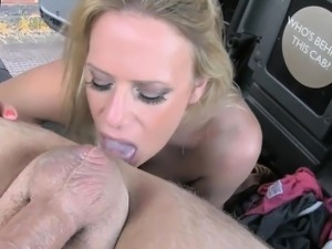 Cheating gf hard fucking with perv driver in the backseat