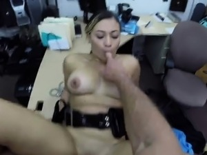 Natural big tits police gets banged