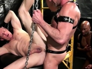 Black stud barebacks hole