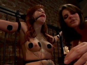 Roped And Domination For red head Brooklyn Lee inside lesbo movie