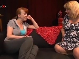 White haired heavy Curvy Sarah has Toyed And Fisted By red head mom id like...