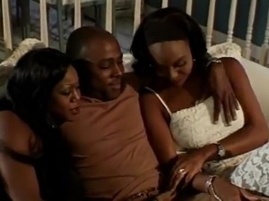 Dirty Threesomed movie not far from ebony pussys having shaged big