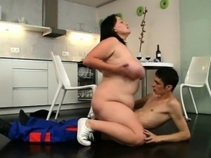 Fat bitch seduces a plumber