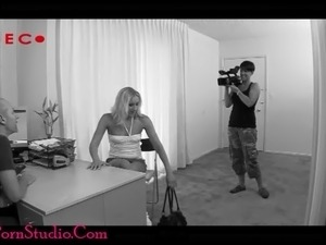Casting Milf whore gets ass fucked and swallows cum load