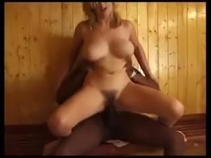 BBC fucks hairy pussy and Big Tits