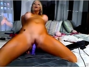 Blonde squirts on reflection