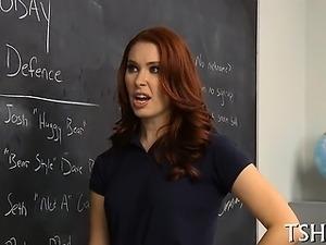 Beautiful senior has fucking fun with her teacher