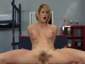 Horny busty shemale penetrated in her ass