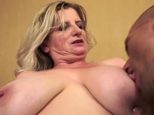 Fat Granny Gives A Good Tit Fuck