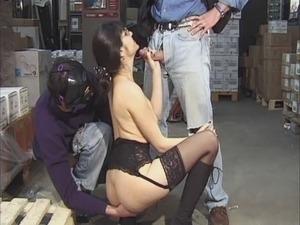French secretary in threesome (secretsliver)