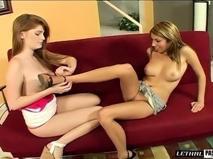 Faye Reagan and Allyssa Hall find pleasure with the help of sex toys