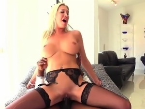 Lexi pounds with a big black cock