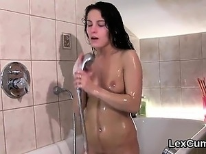 Luscious czech stunner lexi dona masturbates and comes